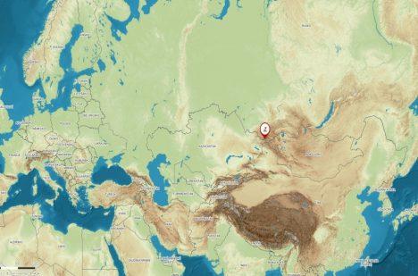 Jezero leží na hranicích Kazachstánu a Ruska.