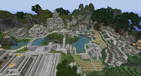 Simulace aztéckého města