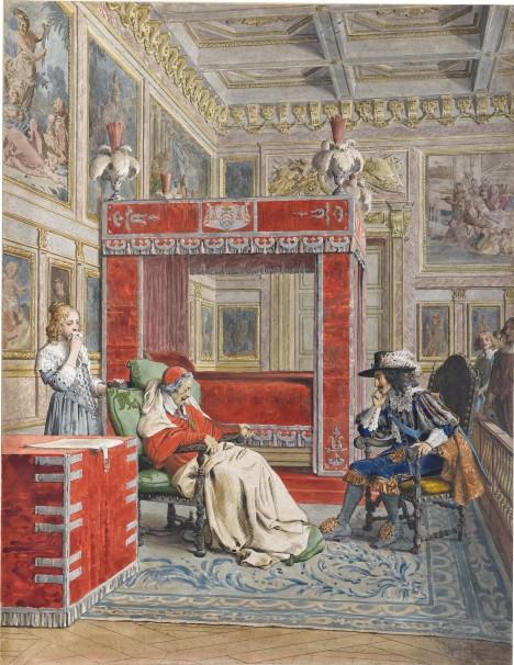 Smrt kardinála Richelieua znamená pro jeho rodinu ztrátu téměř všeho majetku.