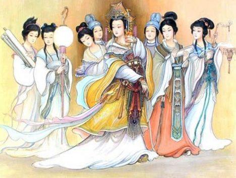 Tradice říká, že dvorní dámy stráví po císařově smrti zbytek života v klášteře.