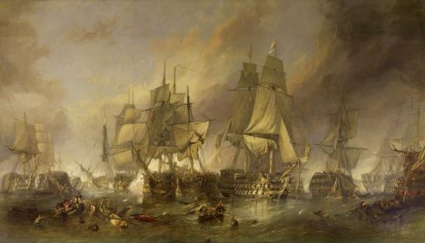 U Trafalgaru předvedou britská plavidla novou taktiku a Francouze tím zaskočí,