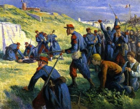 U hřbitovní zdi dojde v roce 1871 k masakru. Poraženo je povstání komunardů.