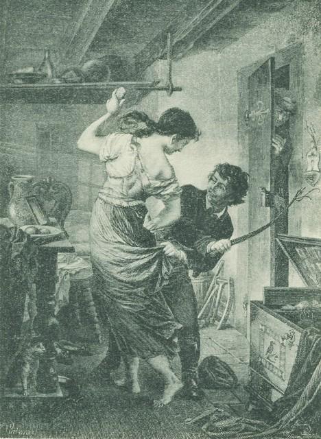 Výplata metlou má prý nabádat k zachování pohlavní zdrženlivosti ve svátečních dnech.