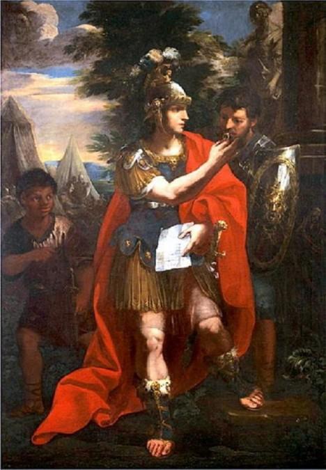 Vojevůdce Alexandr Veliký přiveze ze svých tažení do Persie a Indie kořist v podobě bílých zrnek rýže.