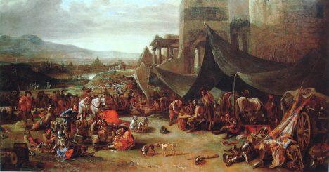 Vojsko císaře Karla V. vtrhne v květnu 1527 do Říma a plení město.