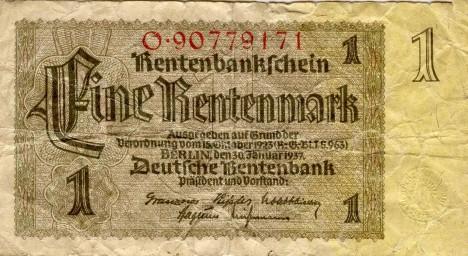 Vydávání rentových marek tvoří opatření proti obrovské inflaci.