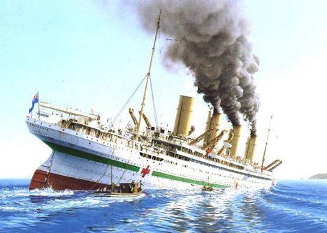hmhs_britannic_painting_mine_explosion_sinking
