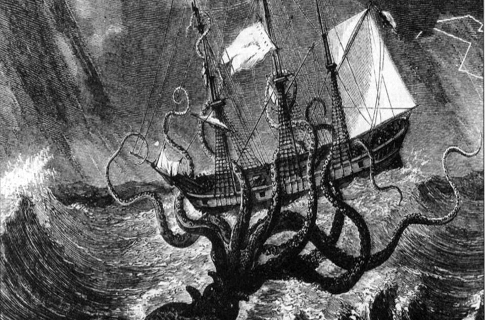 Kraken prý dokázal zničit celé lodi.