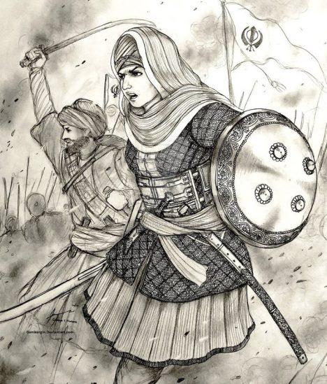 Své legendární bojovnice má také Indie, jedna z nich přitom žila poměrně nedávno, na přelomu 17. a 18. století. Jmenovala se Mai Bhago a dnes je uctívána jako svatá. Patřila k sikhkům a dokázala se čtyřicítkou věrných bojovníků zachránit vůdce svého náboženství z rukou Mughalských oddílů. Bhago jako jediná bitvu přežila a vůdce Sikhů Góbinda Singha si ji vybral jako strážce.