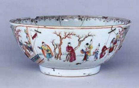 Edes family Tea Party punch bowl