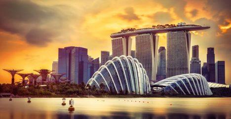 Městský stát Singapur.
