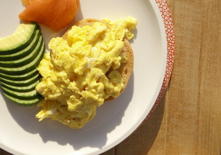 Eggs, salmon, toast and avocado Epoch Fitness Breakfast
