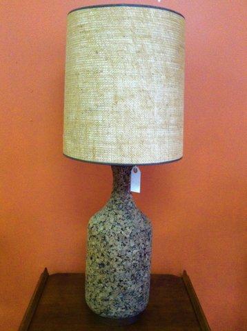 Mid-century cork lamp