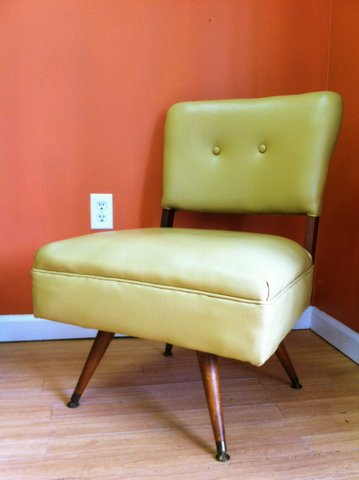 mid-century kroeller swivel chair