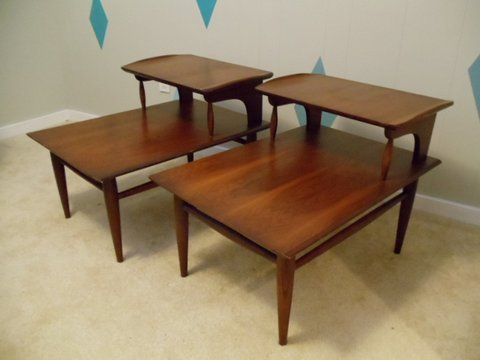 Mid-century step end table by Bassett