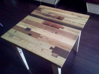 primitive modern restaurant table
