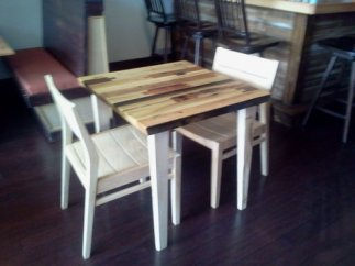 primitive modern handcrafted table