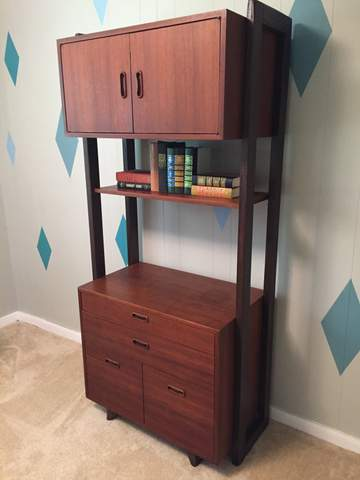 danish modern modular wall unit