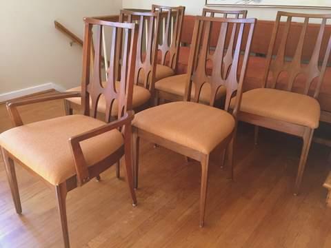 Walnut Broyhill Brasilia Dining Chairs Epoch
