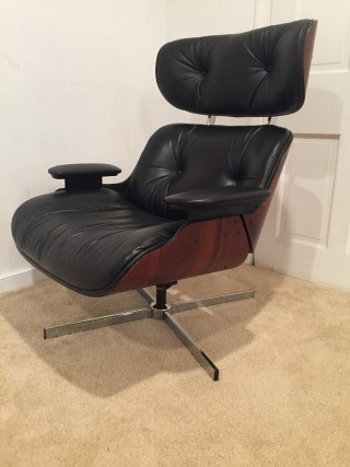 Mid Century Modern Eames Style Lounge Chair By Selig Epoch