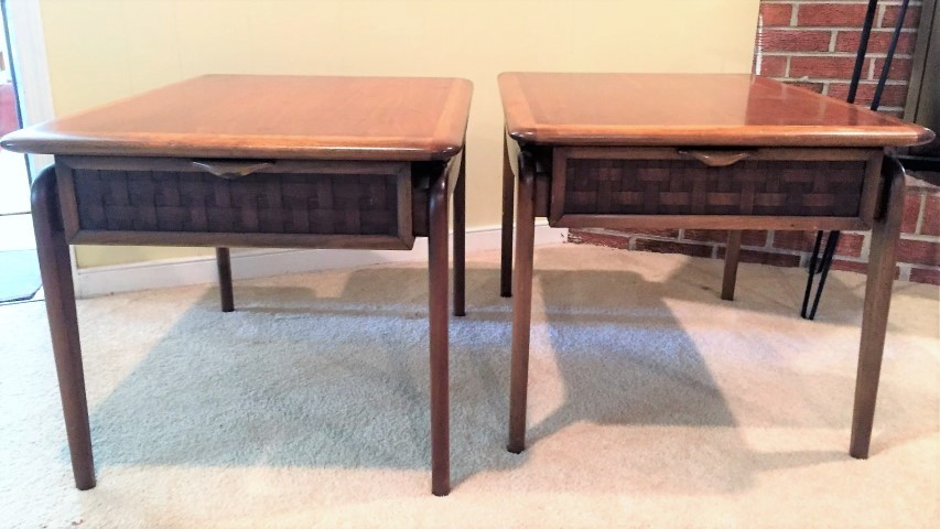 mid century modern Lane perception end tables 1960