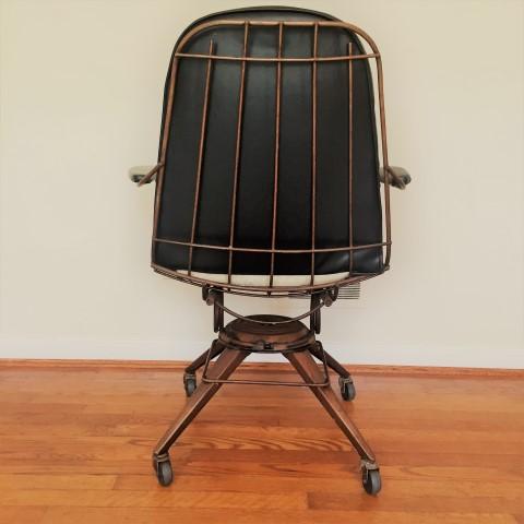 mid century modern swivel chair castors rolling homecrest
