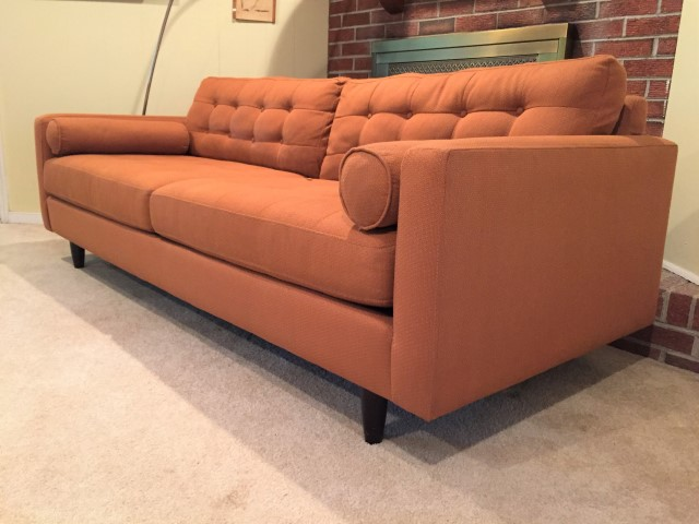Burnt Orange Mid Century Style Sofa By Kroehler Furniture