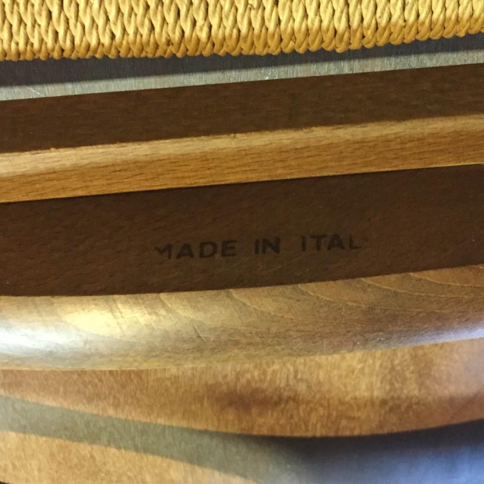Italian dressing valet mid century modern woven seat