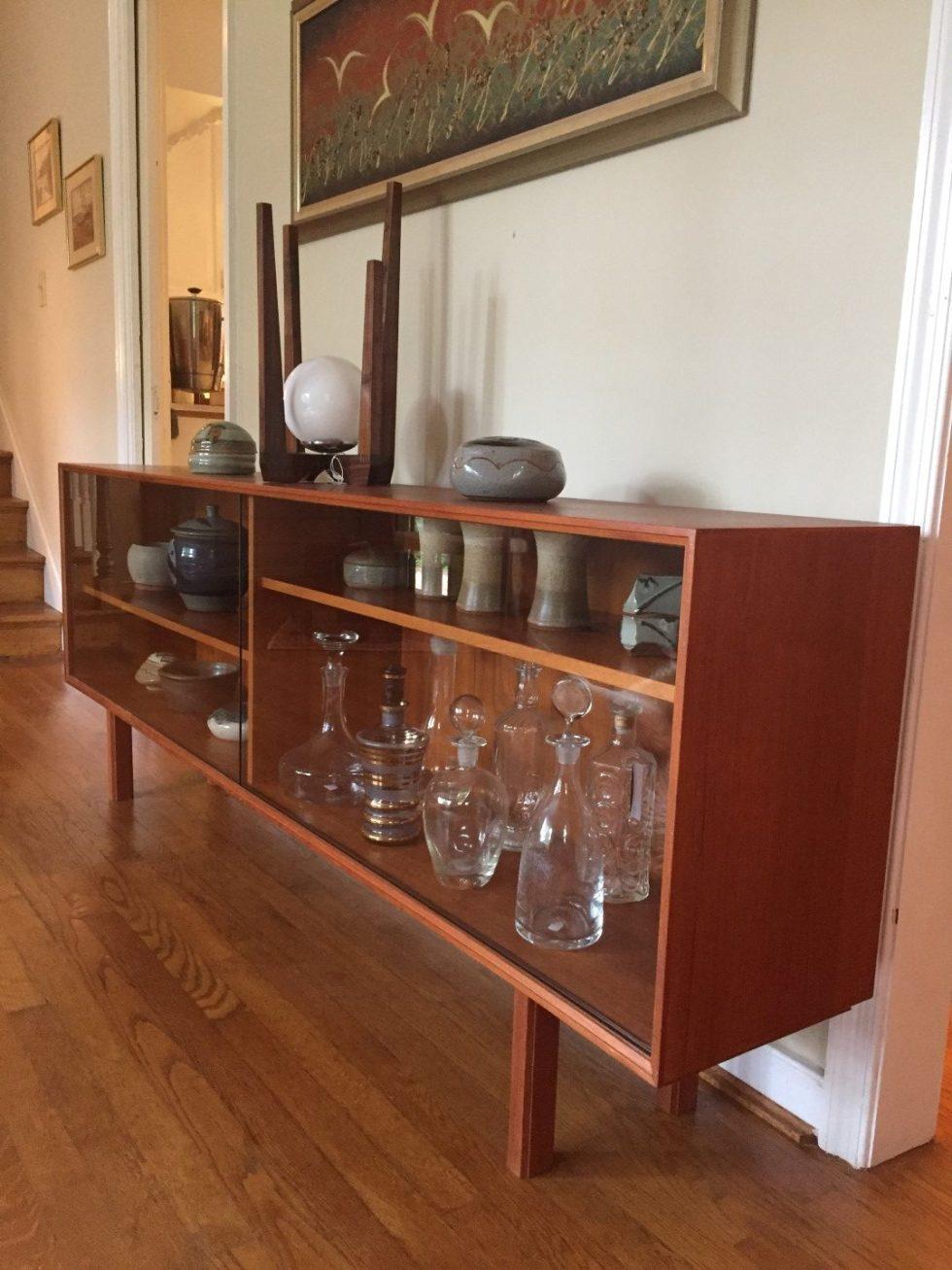 Vintage Danish Teak Glass Front Media Center Epoch
