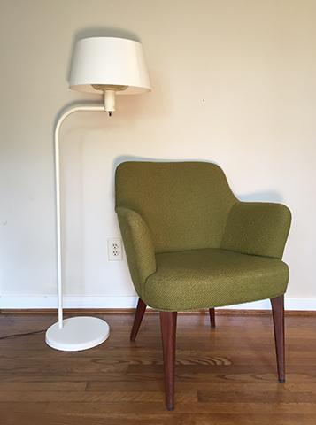 mid century modern lightolier floor lamp by Gerald Thurston
