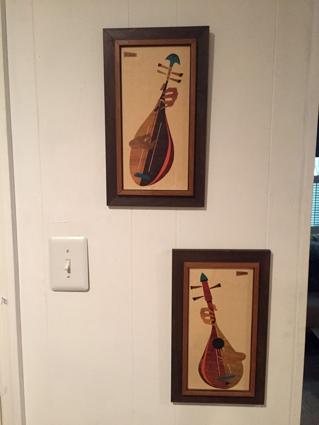 mid century modern wood cut wall hangings Amoroso