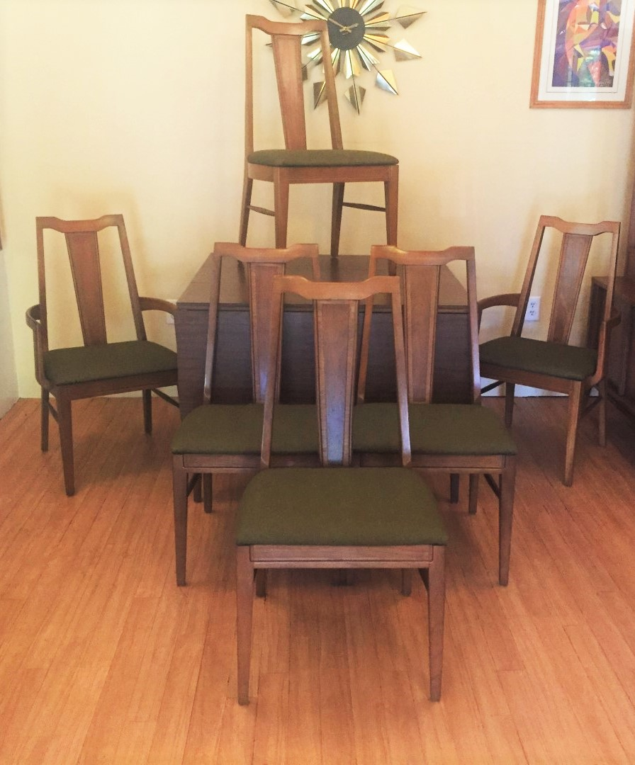 Mid Century Modern Dining: Mid Century Modern Dining Chair Set With Contrasting