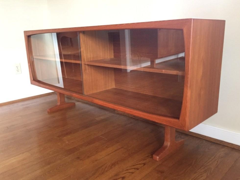 Drylund-glass-front-Danish-Modern-teak-sideboard-credenza