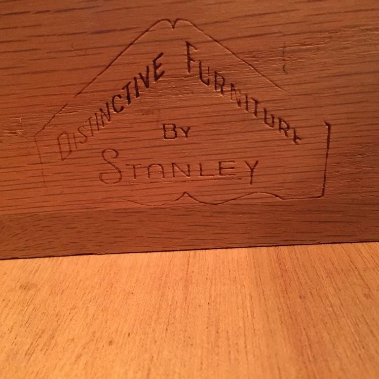 mid century modern walnut credenza by Stanley