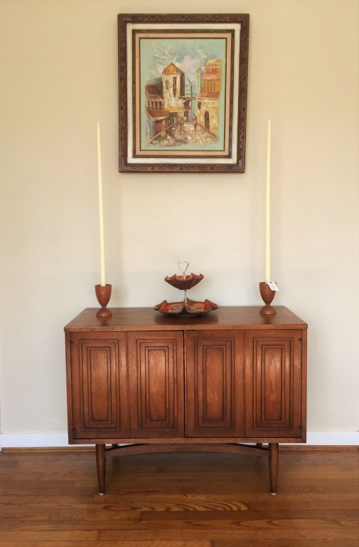 mid century modern broyhill sculptra cabinet credenza sideboard
