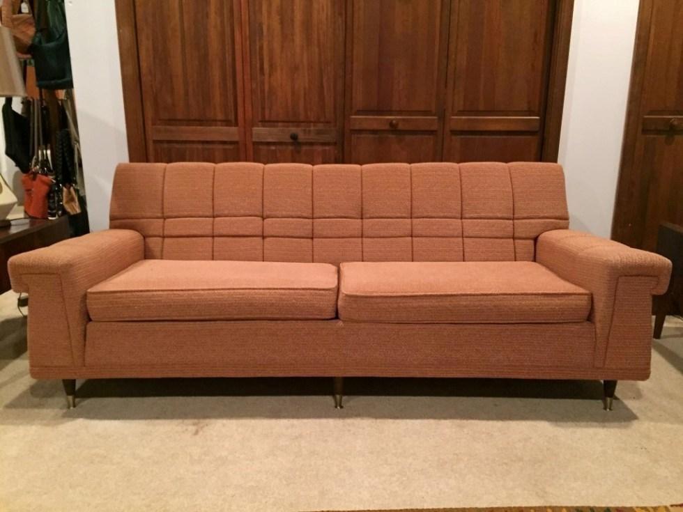 vintage mid mod sofa kroehler