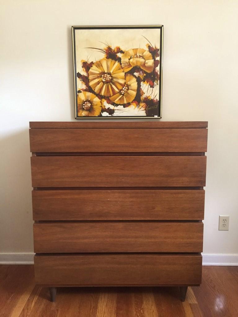 mid century modern walnut high dresser bassett