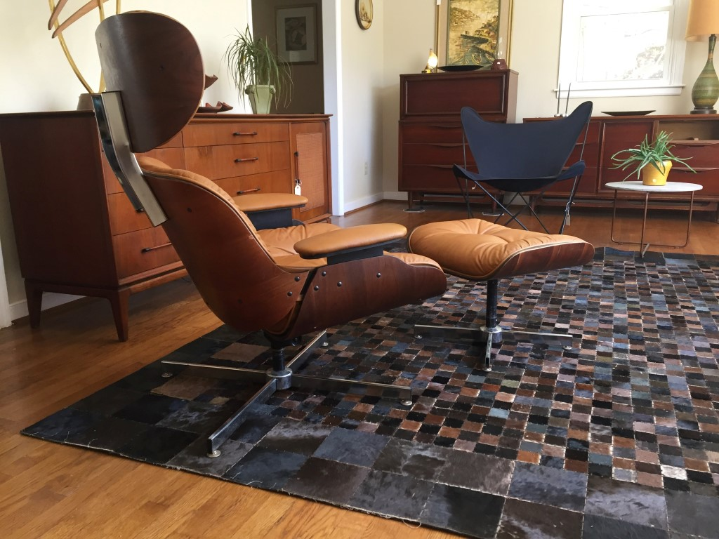 mid century modern bent plywood lounge chair ottoman selig
