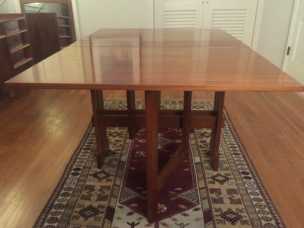 space saver walnut drop leaf table