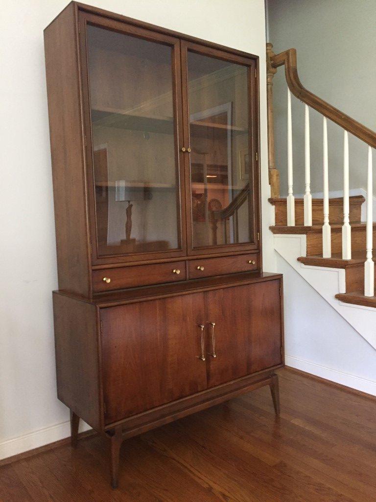 vintage mid century china cabinet keller