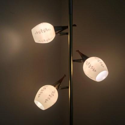 mid century modern tension rod pole lamp