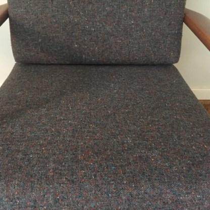 Baumritter mid century modern walnut armchair restored