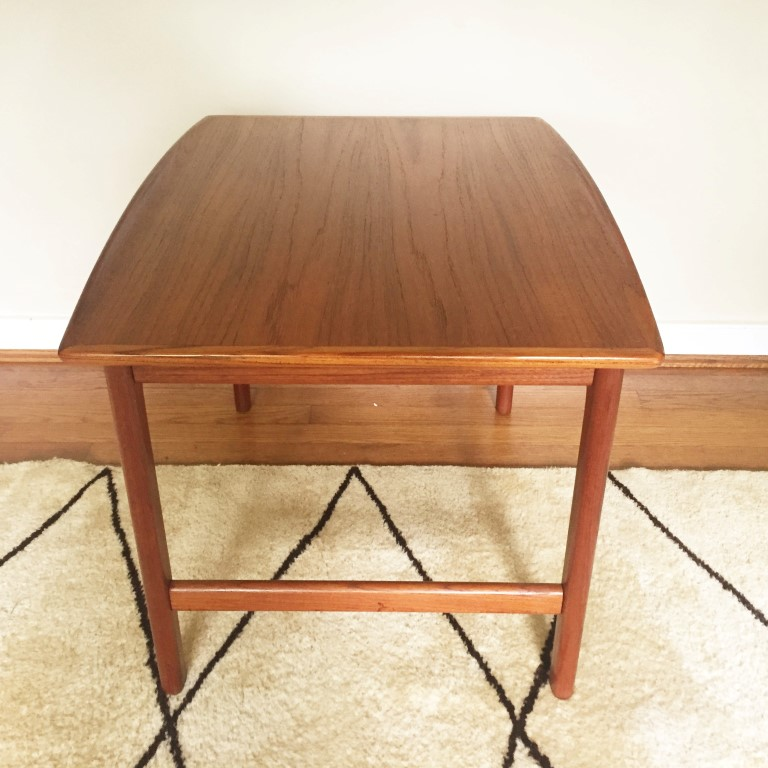 swedish modern teak end tables folke ohlssen frisco