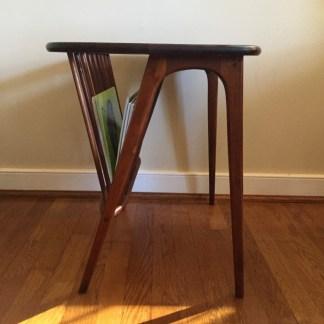 mid-century-modern-walnut-side-table-magazine-rack-arthur-umanoff