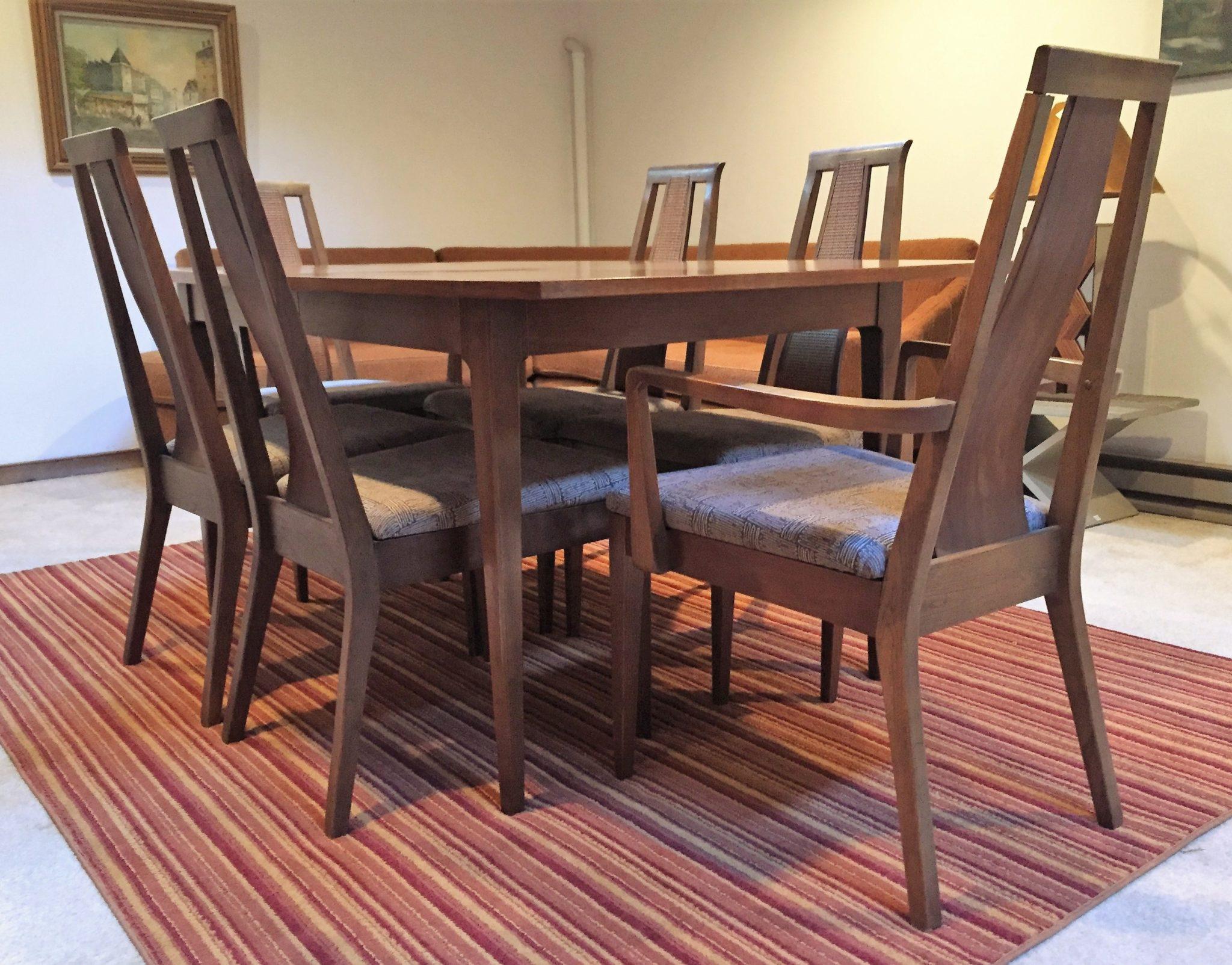 american of martinsville dining room set | Mid Mod Walnut Dining Set by American of Martinsville - EPOCH