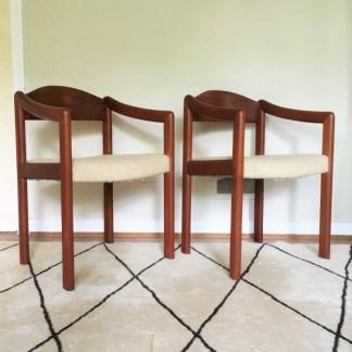vintage teak armchairs Mikael Laursen