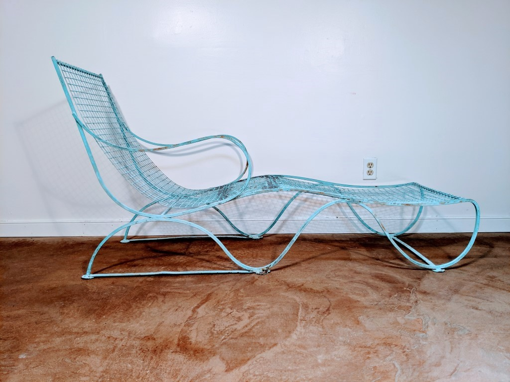 Wrought Iron Patio Lounge Chair Epoch