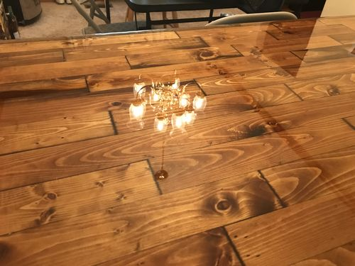And After Polyurethane Coating Wood