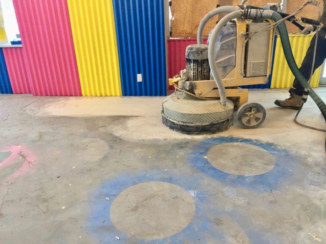 Concrete floor grinding