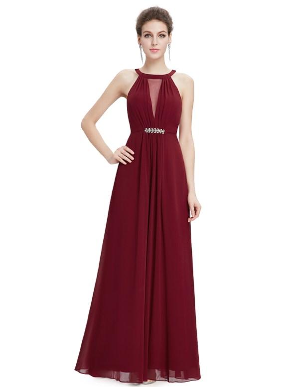 Ever-Pretty Long Bridesmaid Dresses Halter Formal Evening ...